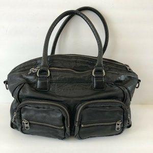 Liebeskind Berlin LARGE Black Leather Satchel Bag